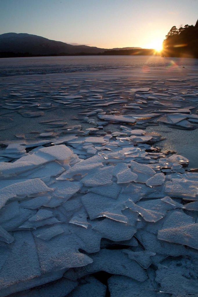 Ice sunset 2